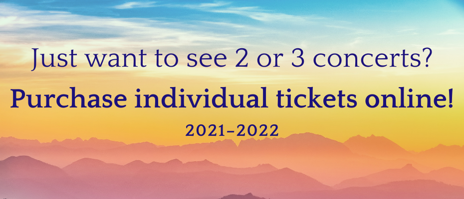 Individual Tickets Available Online Banner